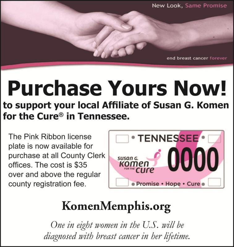 Pink Ribbon License Plate | Susan G Komen Memphis MidSouth Mississippi®